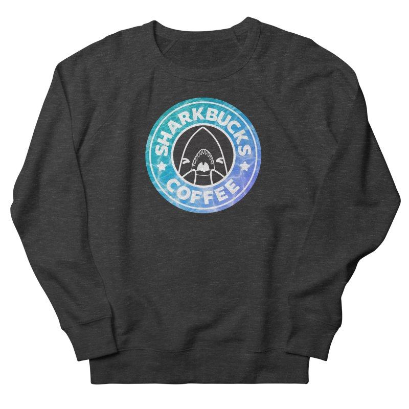 SHARKBUCKS (water) Men's French Terry Sweatshirt by Byte Size Treasure's Shop