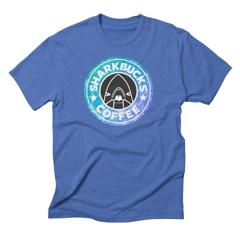 SHARKBUCKS (water) Men's Triblend T-Shirt by Byte Size Treasure's Shop
