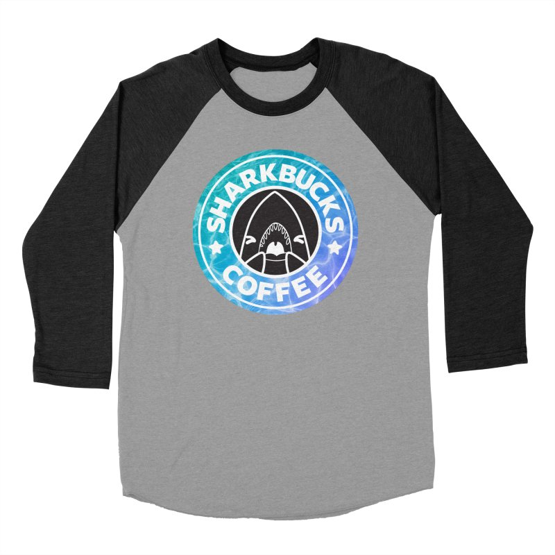 SHARKBUCKS (water) Women's Baseball Triblend Longsleeve T-Shirt by Byte Size Treasure's Shop