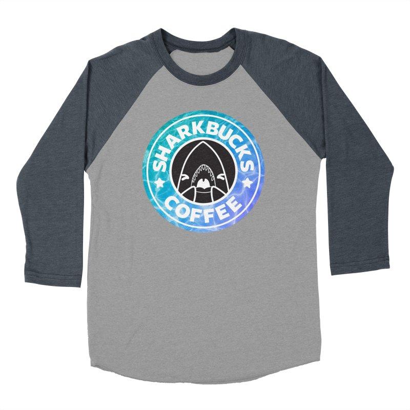 SHARKBUCKS (water) Men's Baseball Triblend Longsleeve T-Shirt by Byte Size Treasure's Shop