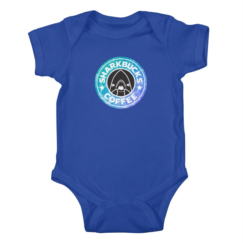 SHARKBUCKS (water) Kids Baby Bodysuit by Byte Size Treasure's Shop