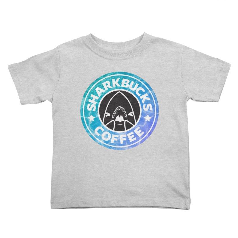SHARKBUCKS (water) Kids Toddler T-Shirt by Byte Size Treasure's Shop