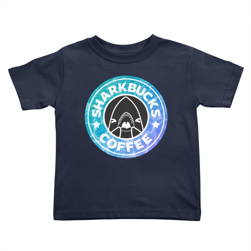 SHARKBUCKS (water) Kids Toddler T-Shirt by Byte Size Treasure's Shop
