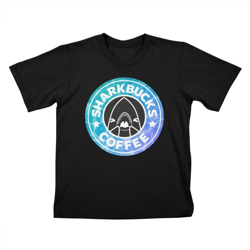 SHARKBUCKS (water) Kids T-Shirt by Byte Size Treasure's Shop