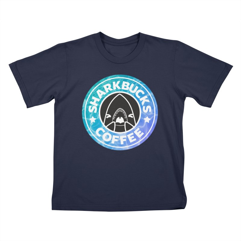 SHARKBUCKS (water) Kids T-Shirt by Byte Size Treasure's Shop