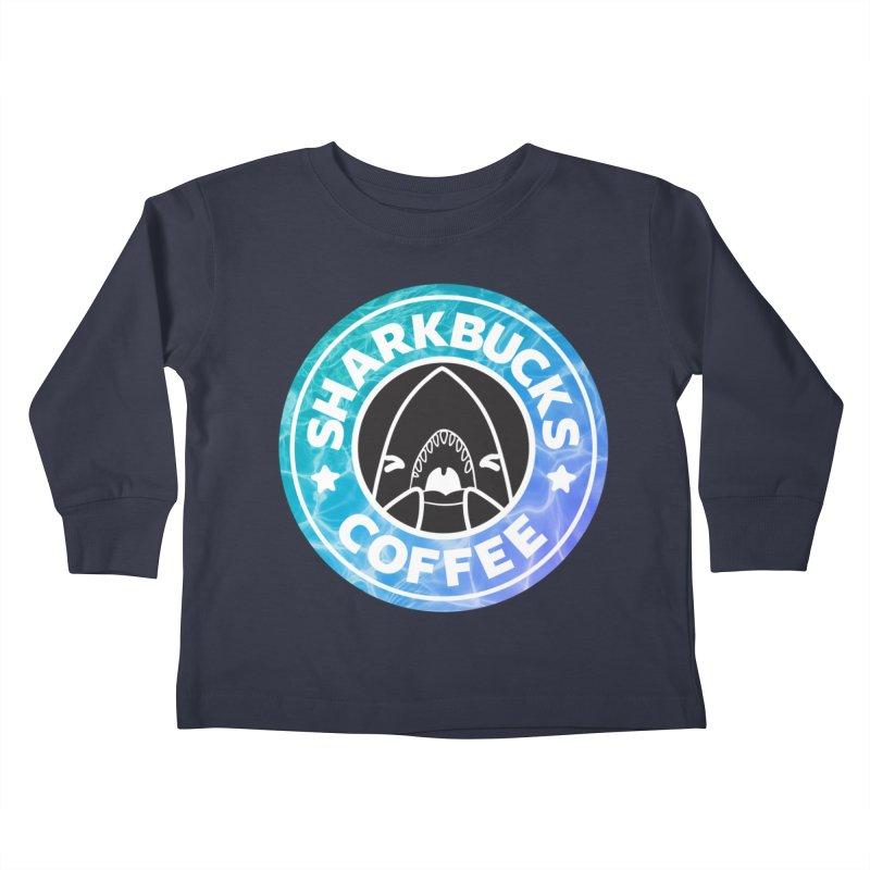 SHARKBUCKS (water) Kids Toddler Longsleeve T-Shirt by Byte Size Treasure's Shop