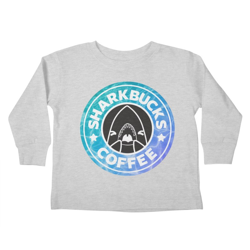 SHARKBUCKS (water) Kids Toddler Longsleeve T-Shirt by Byte Size Treasure's Shop