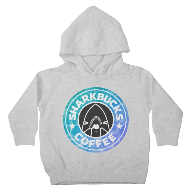 SHARKBUCKS (water) Kids Toddler Pullover Hoody by Byte Size Treasure's Shop