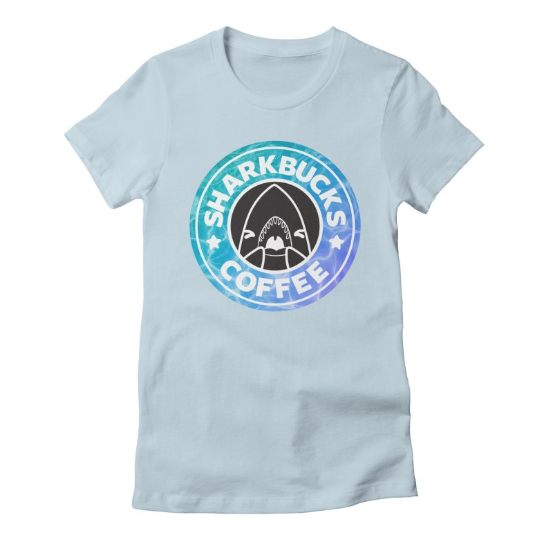 SHARKBUCKS (water) Women's Fitted T-Shirt by Byte Size Treasure's Shop