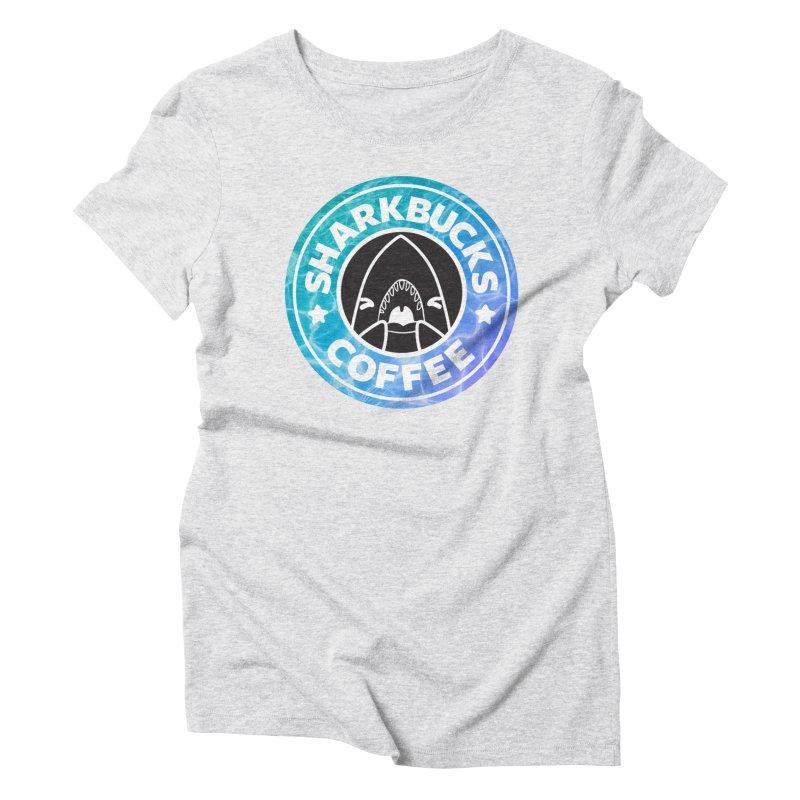 SHARKBUCKS (water) Women's Triblend T-Shirt by Byte Size Treasure's Shop