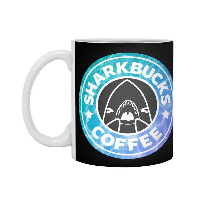 SHARKBUCKS (water) Accessories Mug by Byte Size Treasure's Shop