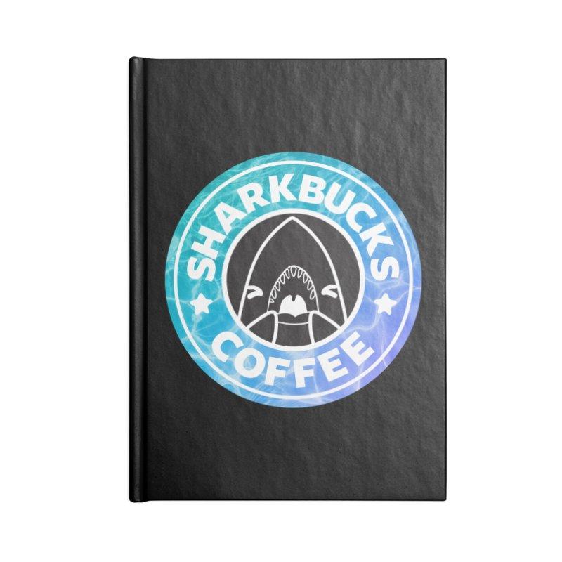 SHARKBUCKS (water) Accessories Blank Journal Notebook by Byte Size Treasure's Shop