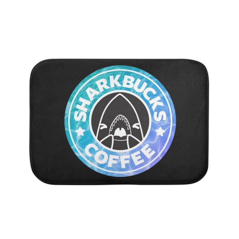 SHARKBUCKS (water) Home Bath Mat by Byte Size Treasure's Shop