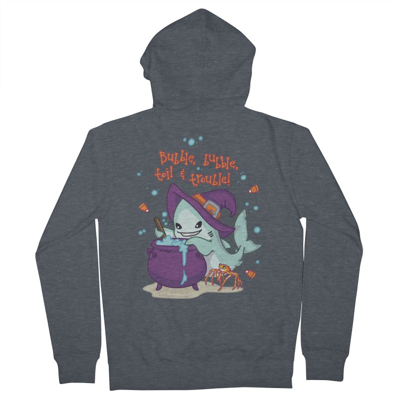 Bubble Bubble Toil & Trouble Women's French Terry Zip-Up Hoody by Byte Size Treasure's Shop