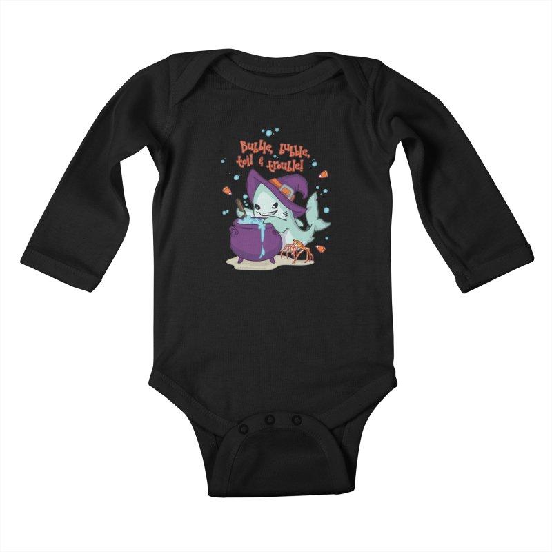 Bubble Bubble Toil & Trouble Kids Baby Longsleeve Bodysuit by Byte Size Treasure's Shop