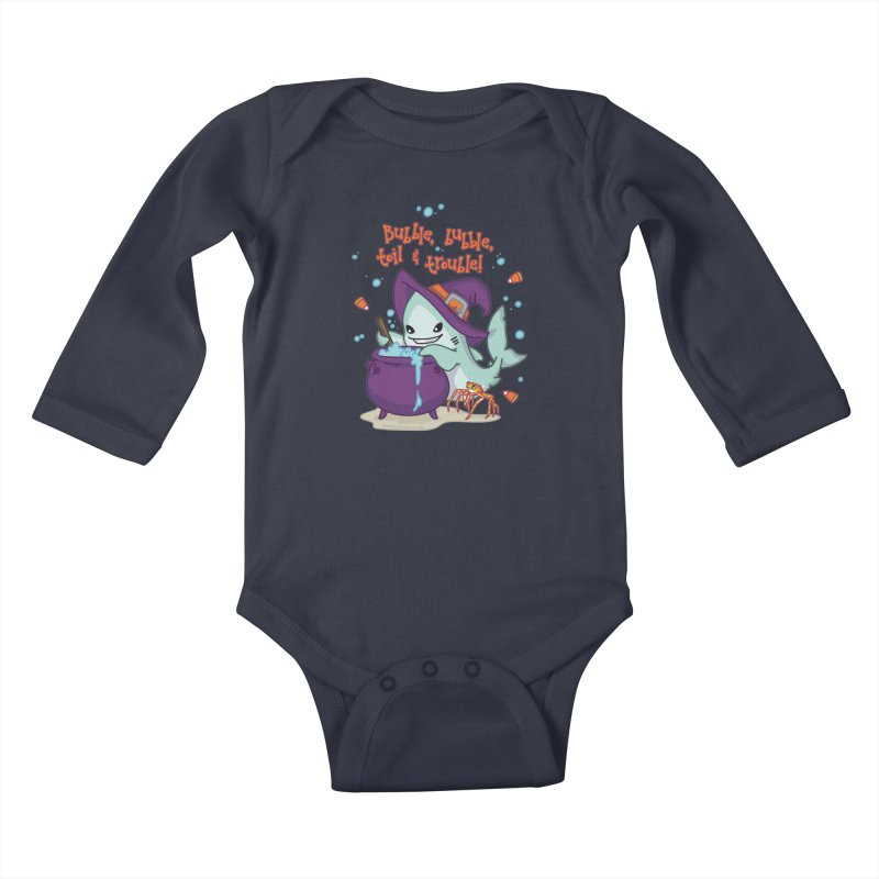 Bubble Bubble Toil & Trouble Kids Baby Longsleeve Bodysuit by Byte Size Treasure's Shop