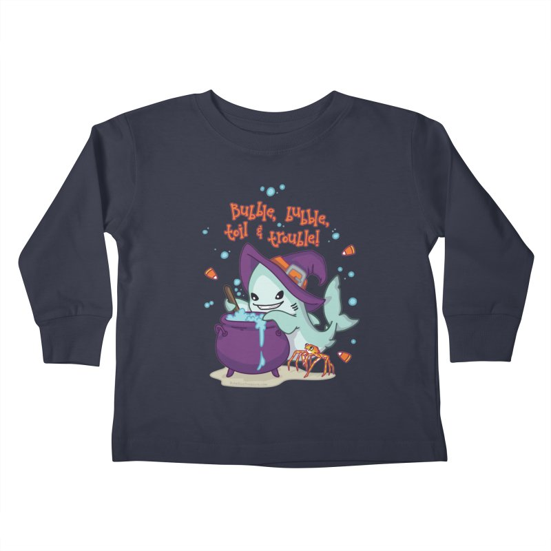 Bubble Bubble Toil & Trouble Kids Toddler Longsleeve T-Shirt by Byte Size Treasure's Shop