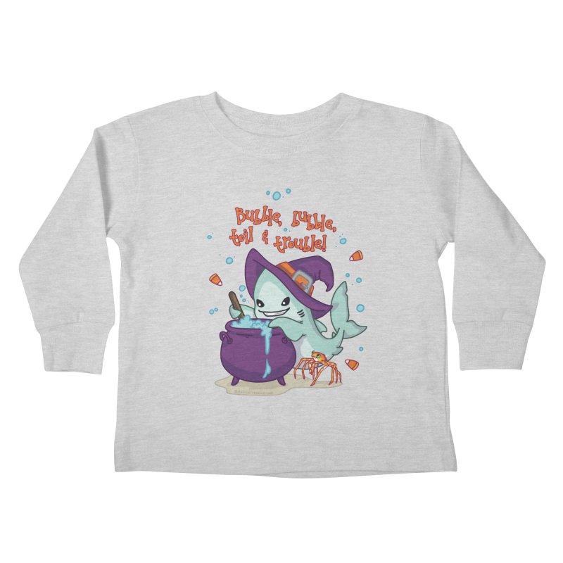 Bubble Bubble Toil & Trouble Kids Toddler Longsleeve T-Shirt by Byte Size Treasure's Shop