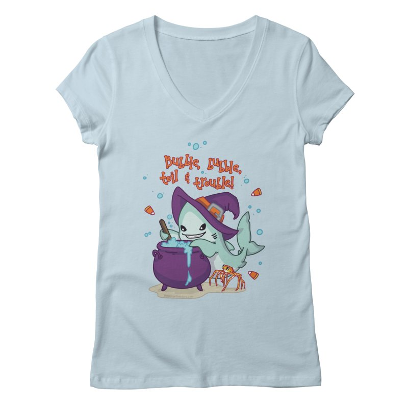 Bubble Bubble Toil & Trouble Women's Regular V-Neck by Byte Size Treasure's Shop