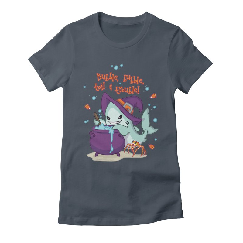 Bubble Bubble Toil & Trouble Women's Fitted T-Shirt by Byte Size Treasure's Shop