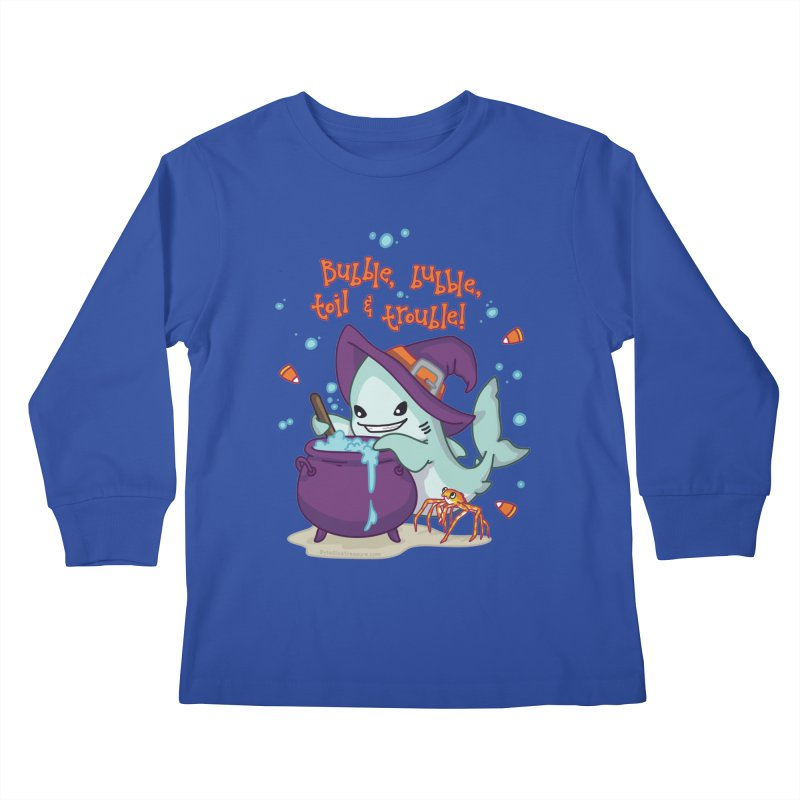 Bubble Bubble Toil & Trouble Kids Longsleeve T-Shirt by Byte Size Treasure's Shop