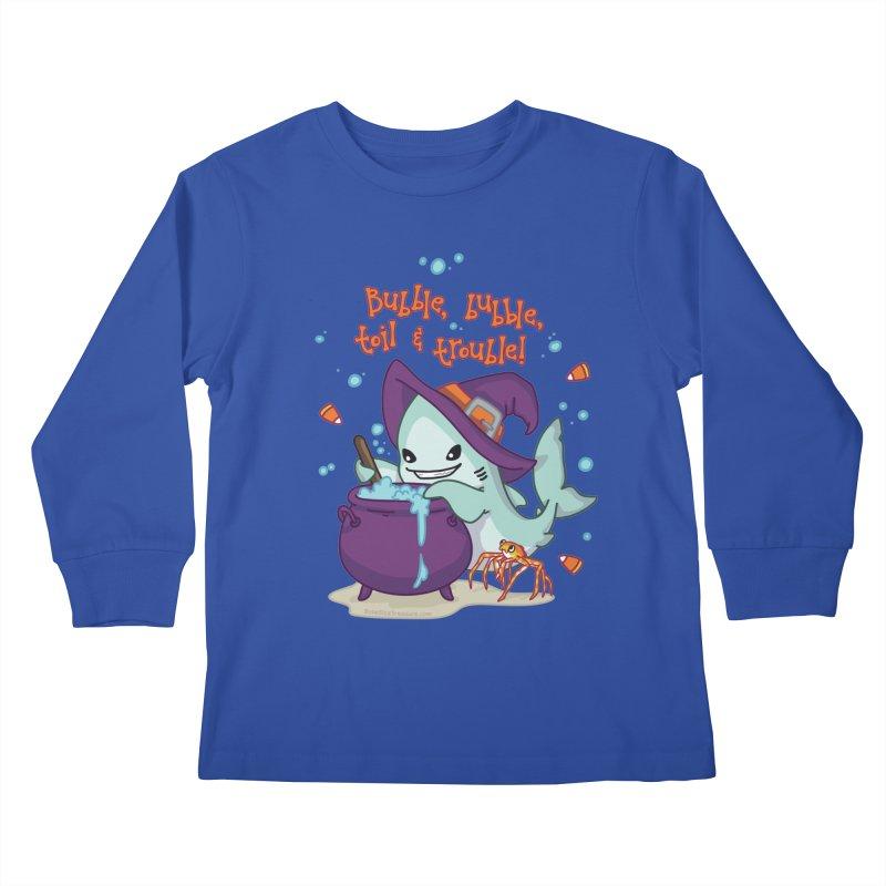 Bubble Bubble Toil & Trouble Kids Longsleeve T-Shirt by Byte Size Treasure's Shop