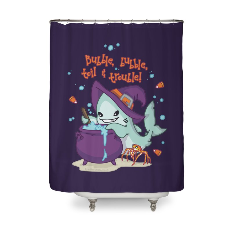 Bubble Bubble Toil & Trouble Home Shower Curtain by Byte Size Treasure's Shop