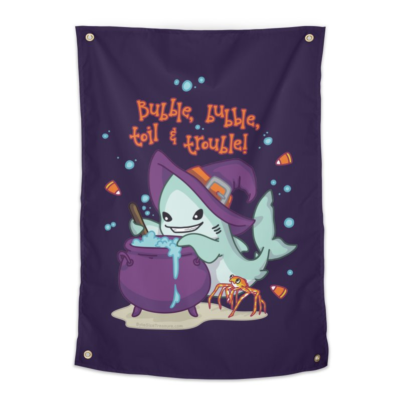 Bubble Bubble Toil & Trouble Home Tapestry by Byte Size Treasure's Shop