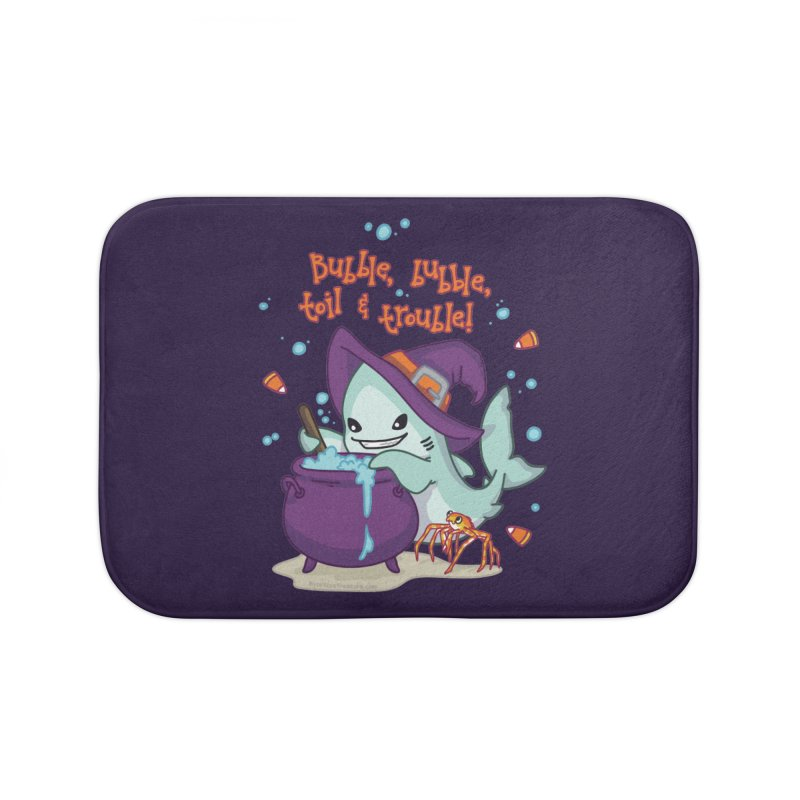 Bubble Bubble Toil & Trouble Home Bath Mat by Byte Size Treasure's Shop