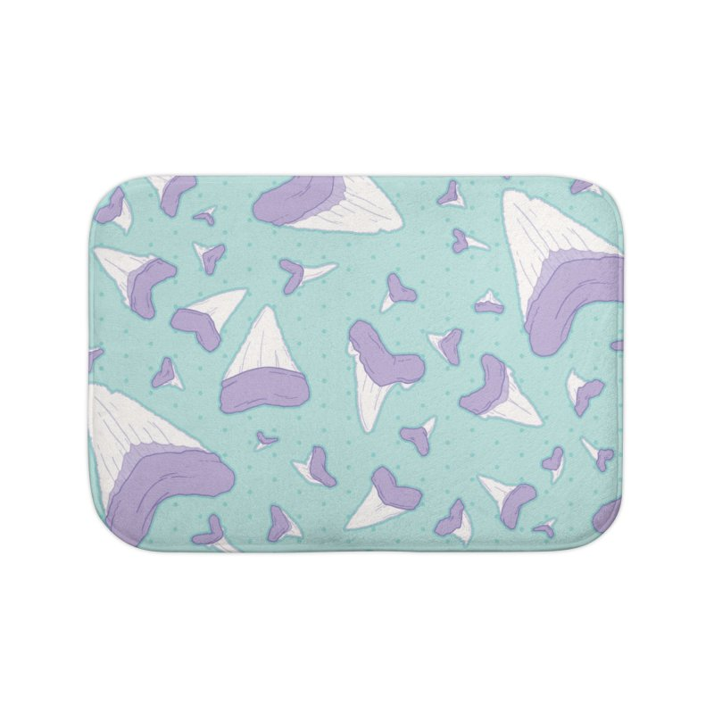 Shark Teeth // Beauty Bytes // Purple & Mint Home Bath Mat by Byte Size Treasure's Shop