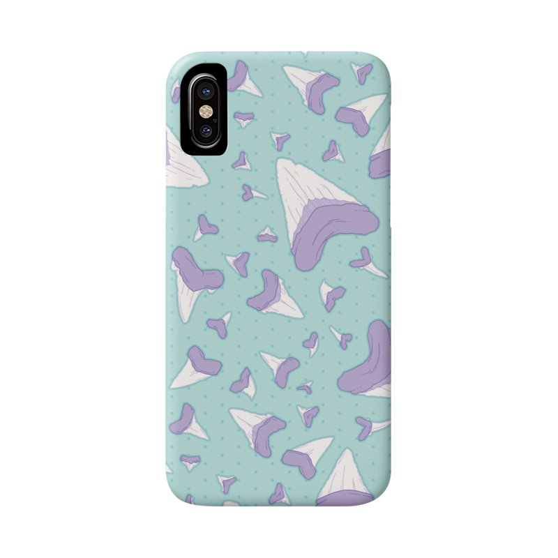 Shark Teeth // Beauty Bytes // Purple & Mint Accessories Phone Case by Byte Size Treasure's Shop