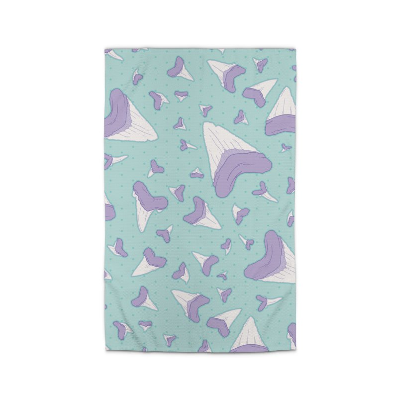 Shark Teeth // Beauty Bytes // Purple & Mint Home Rug by Byte Size Treasure's Shop