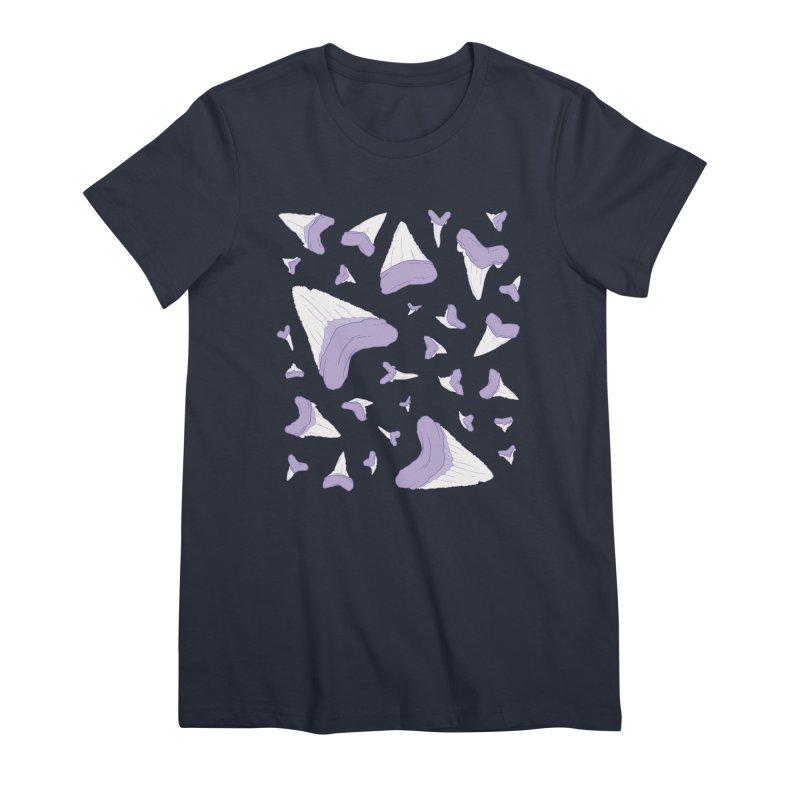 Shark Teeth // Beauty Bytes // Purple & Mint Women's Premium T-Shirt by Byte Size Treasure's Shop