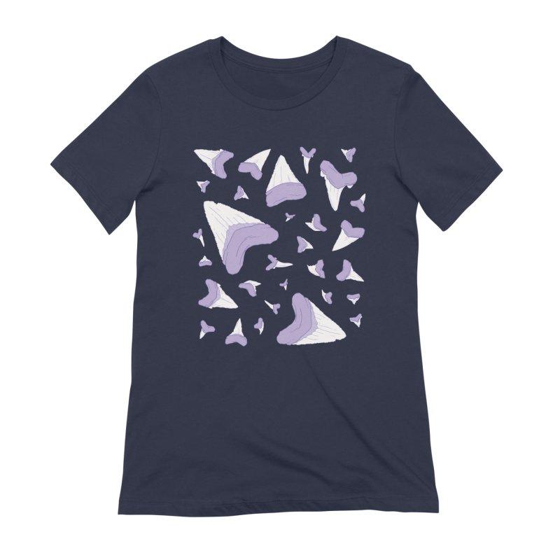 Shark Teeth // Beauty Bytes // Purple & Mint Women's Extra Soft T-Shirt by Byte Size Treasure's Shop