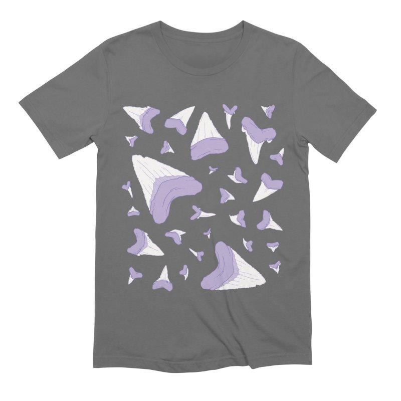 Shark Teeth // Beauty Bytes // Purple & Mint Men's Extra Soft T-Shirt by Byte Size Treasure's Shop
