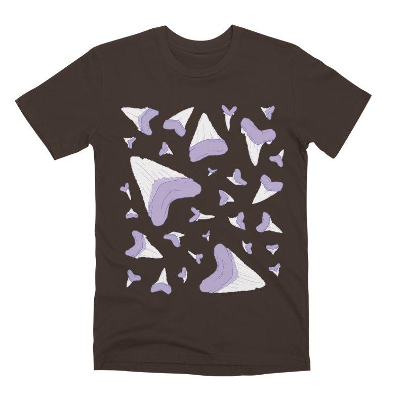 Shark Teeth // Beauty Bytes // Purple & Mint Men's Premium T-Shirt by Byte Size Treasure's Shop