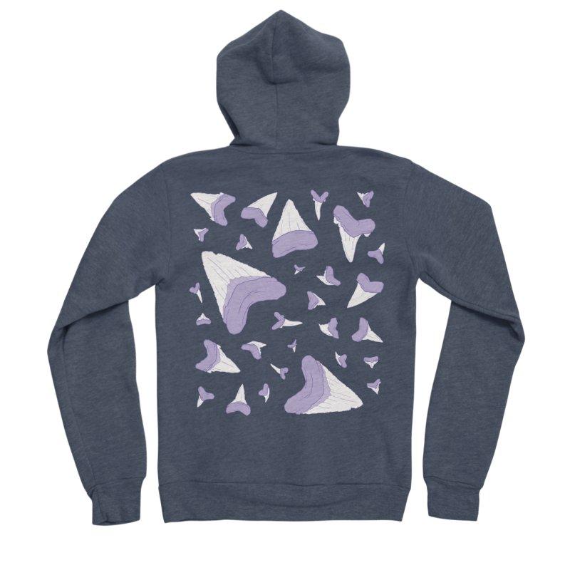 Shark Teeth // Beauty Bytes // Purple & Mint Men's Sponge Fleece Zip-Up Hoody by Byte Size Treasure's Shop
