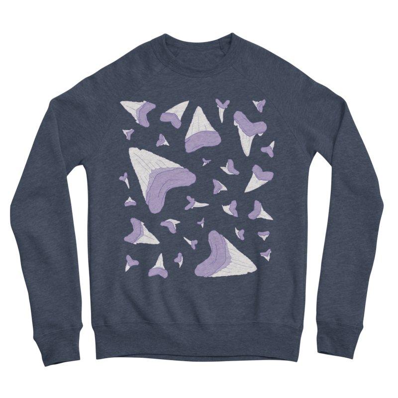 Shark Teeth // Beauty Bytes // Purple & Mint Men's Sponge Fleece Sweatshirt by Byte Size Treasure's Shop