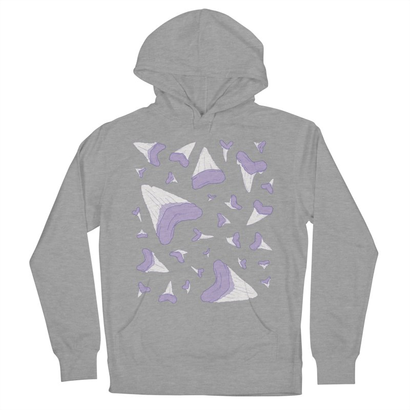 Shark Teeth // Beauty Bytes // Purple & Mint Men's French Terry Pullover Hoody by Byte Size Treasure's Shop
