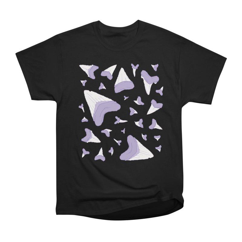 Shark Teeth // Beauty Bytes // Purple & Mint Men's Heavyweight T-Shirt by Byte Size Treasure's Shop