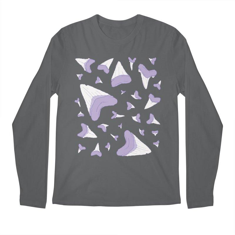 Shark Teeth // Beauty Bytes // Purple & Mint Men's Regular Longsleeve T-Shirt by Byte Size Treasure's Shop