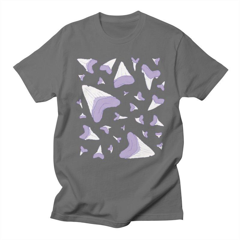 Shark Teeth // Beauty Bytes // Purple & Mint Women's Regular Unisex T-Shirt by Byte Size Treasure's Shop