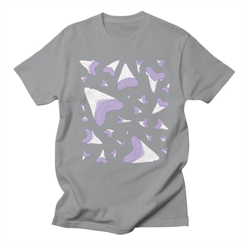 Shark Teeth // Beauty Bytes // Purple & Mint Men's Regular T-Shirt by Byte Size Treasure's Shop