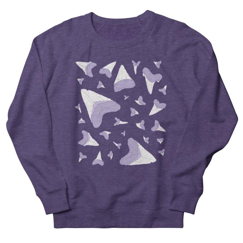 Shark Teeth // Beauty Bytes // Purple & Mint Men's French Terry Sweatshirt by Byte Size Treasure's Shop