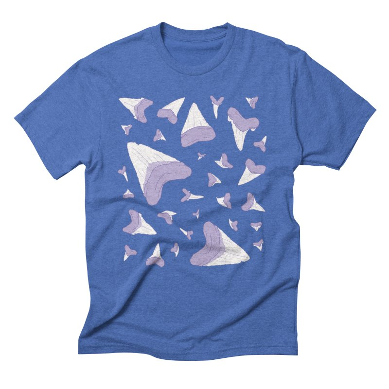 Shark Teeth // Beauty Bytes // Purple & Mint Men's Triblend T-Shirt by Byte Size Treasure's Shop