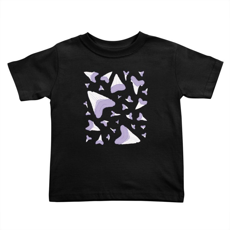 Shark Teeth // Beauty Bytes // Purple & Mint Kids Toddler T-Shirt by Byte Size Treasure's Shop