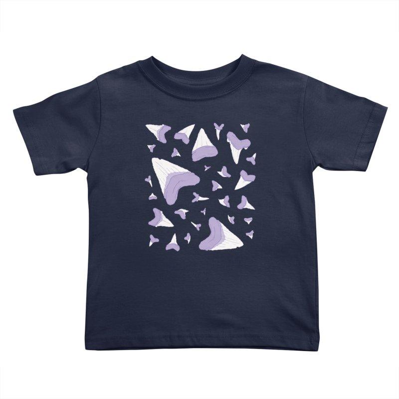 Shark Teeth // Beauty Bytes // Purple & Mint Kids Toddler T-Shirt by Byte Size Treasure's Shop