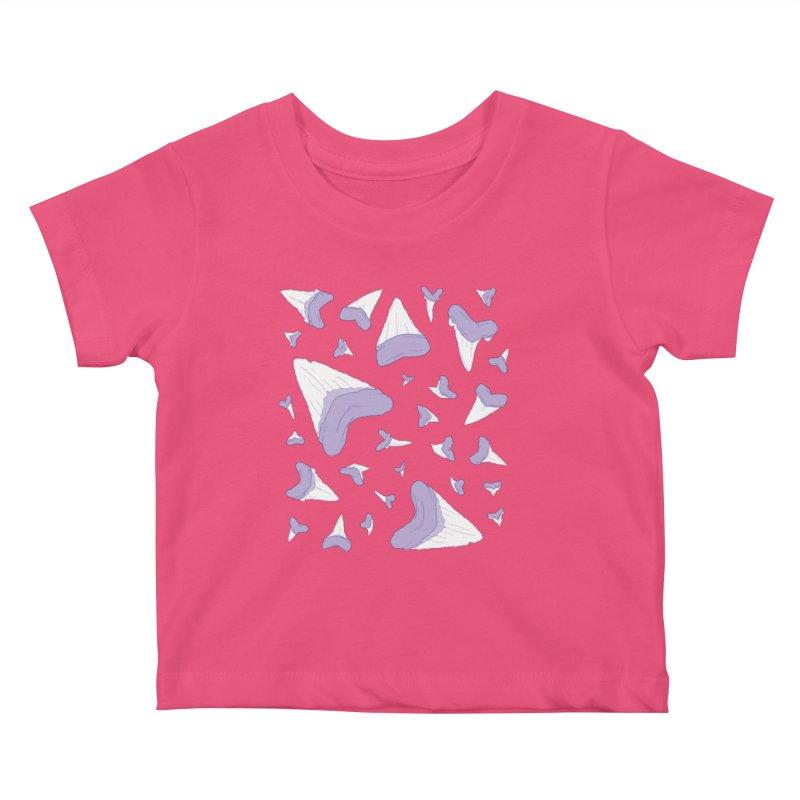 Shark Teeth // Beauty Bytes // Purple & Mint Kids Baby T-Shirt by Byte Size Treasure's Shop