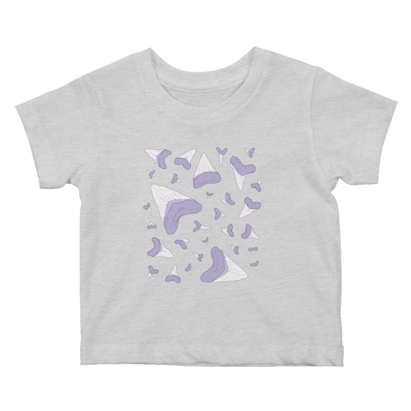 Shark Teeth // Beauty Bytes // Purple & Mint Kids Baby T-Shirt by Byte Size Treasure's Shop