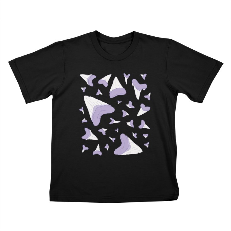 Shark Teeth // Beauty Bytes // Purple & Mint Kids T-Shirt by Byte Size Treasure's Shop